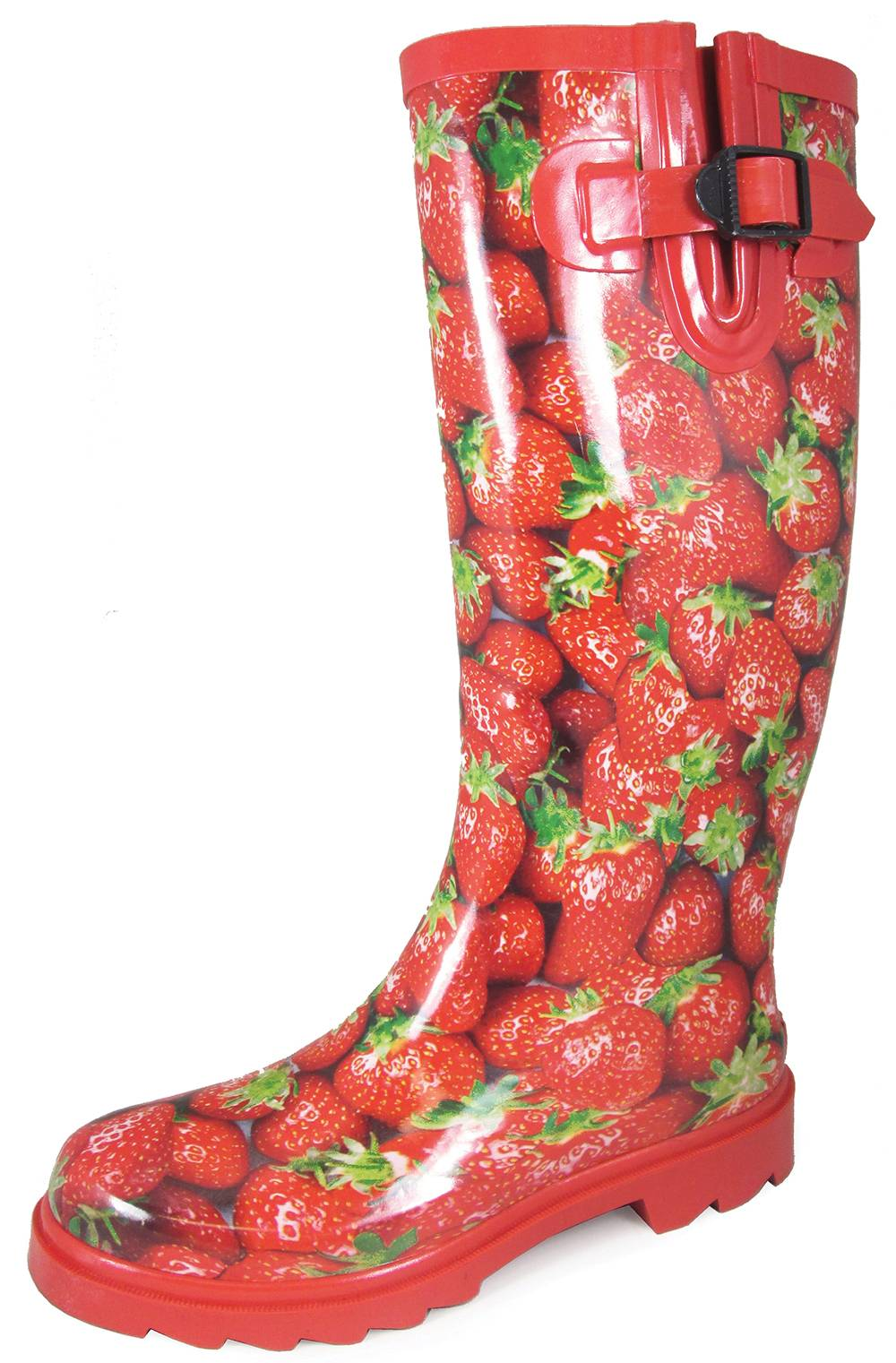 Smoky Mountain Ladies 15'' Rubber Boots - Strawberry Print