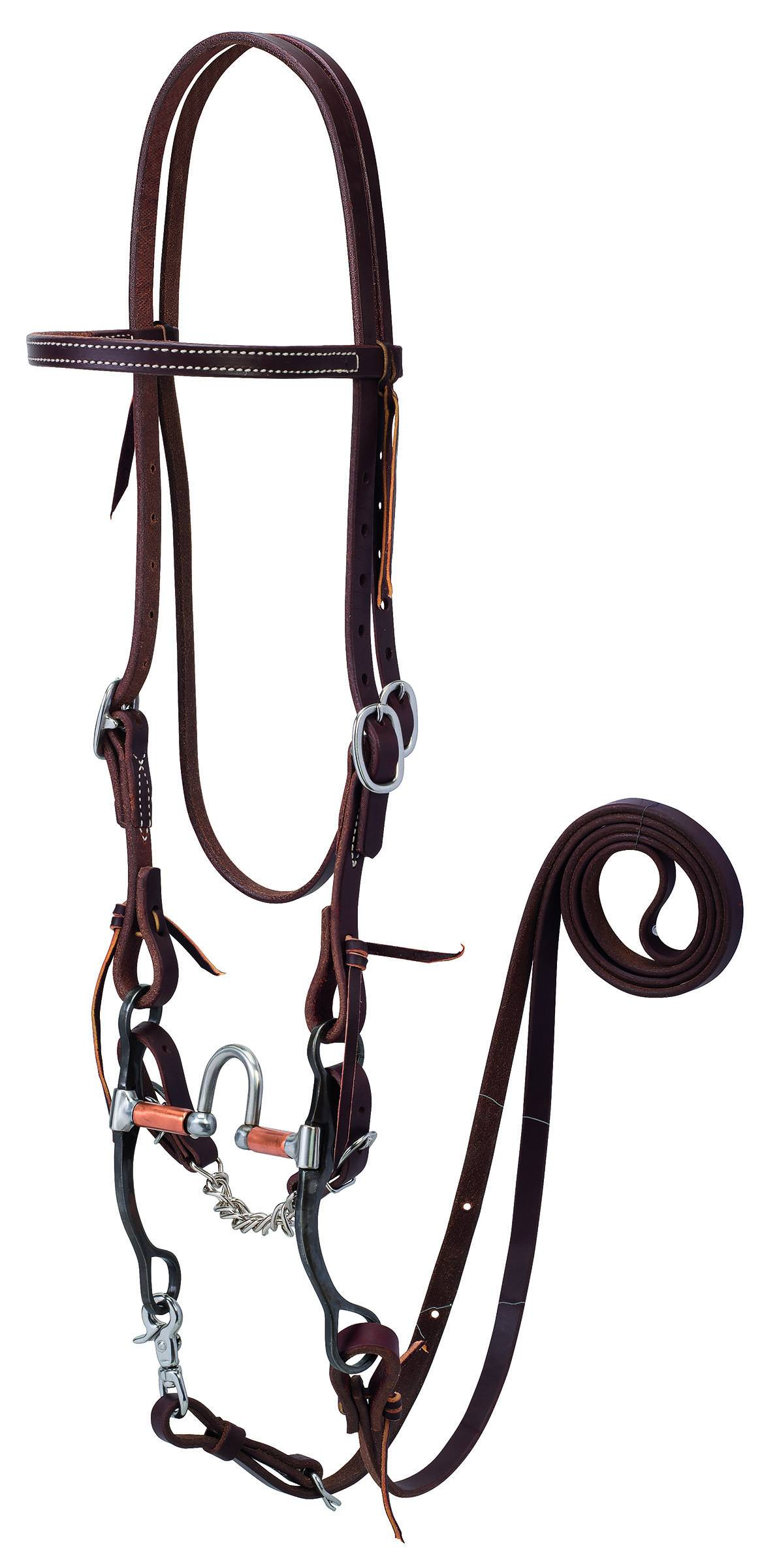 Weaver Working Tack Bridle With Correction Mouth Bit