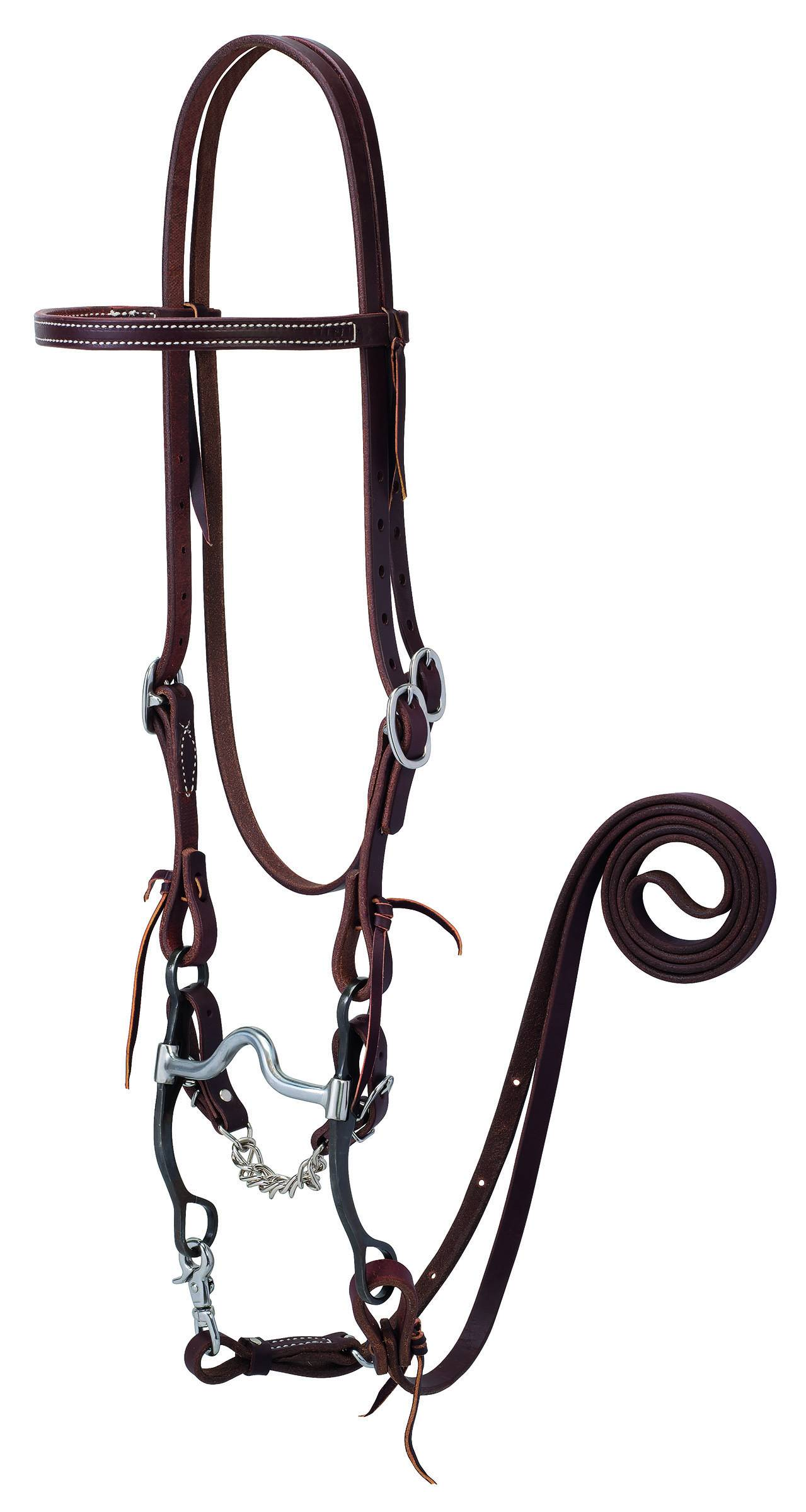 Weaver Working Tack Bridle With Medium Port Mouth Bit