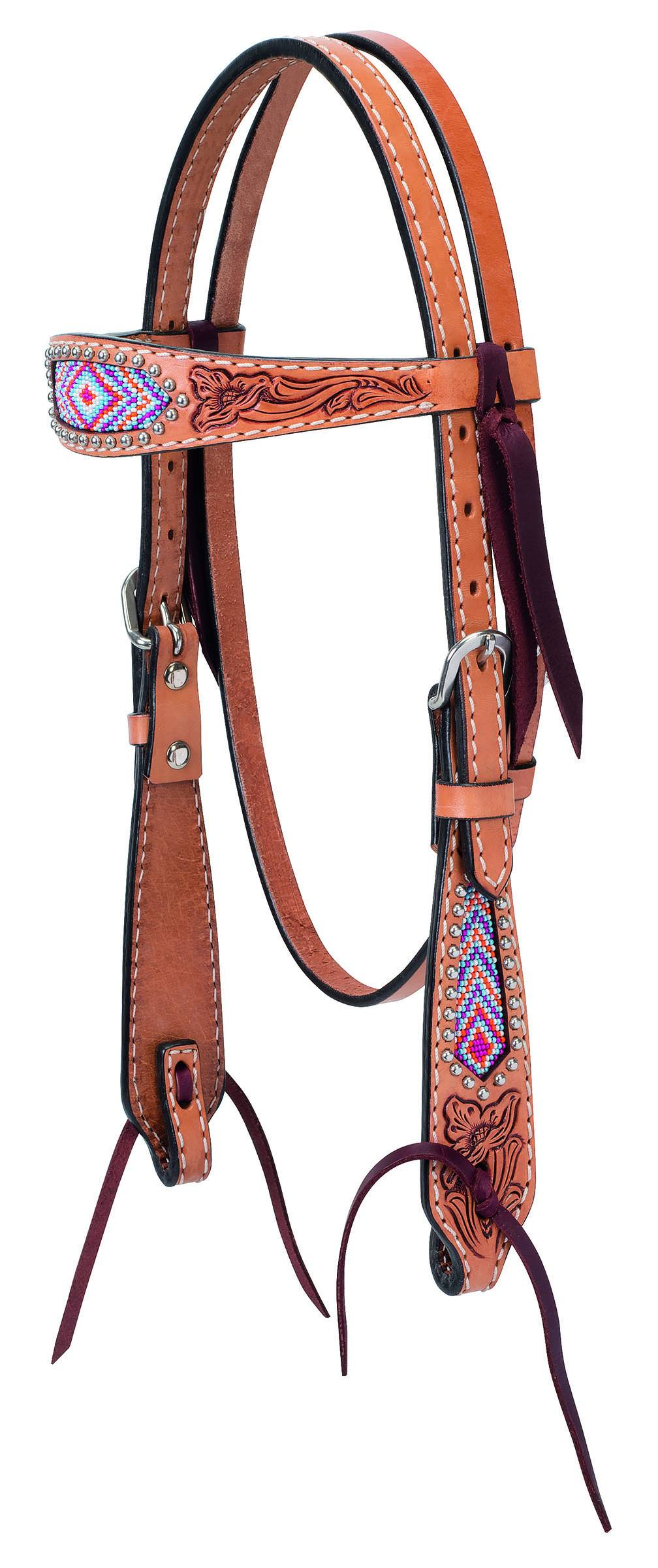 Weaver Diamond Beaded Pony Browband Headstall