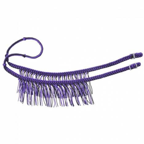 Tough-1 Braided Cord Knotted Competition Rein With Fringe