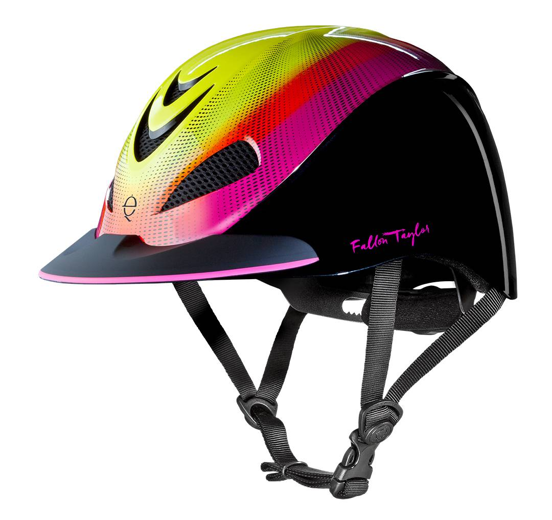 Troxel Fallon Taylor Helmet - Neon Flare - FREE Cap with Purchase