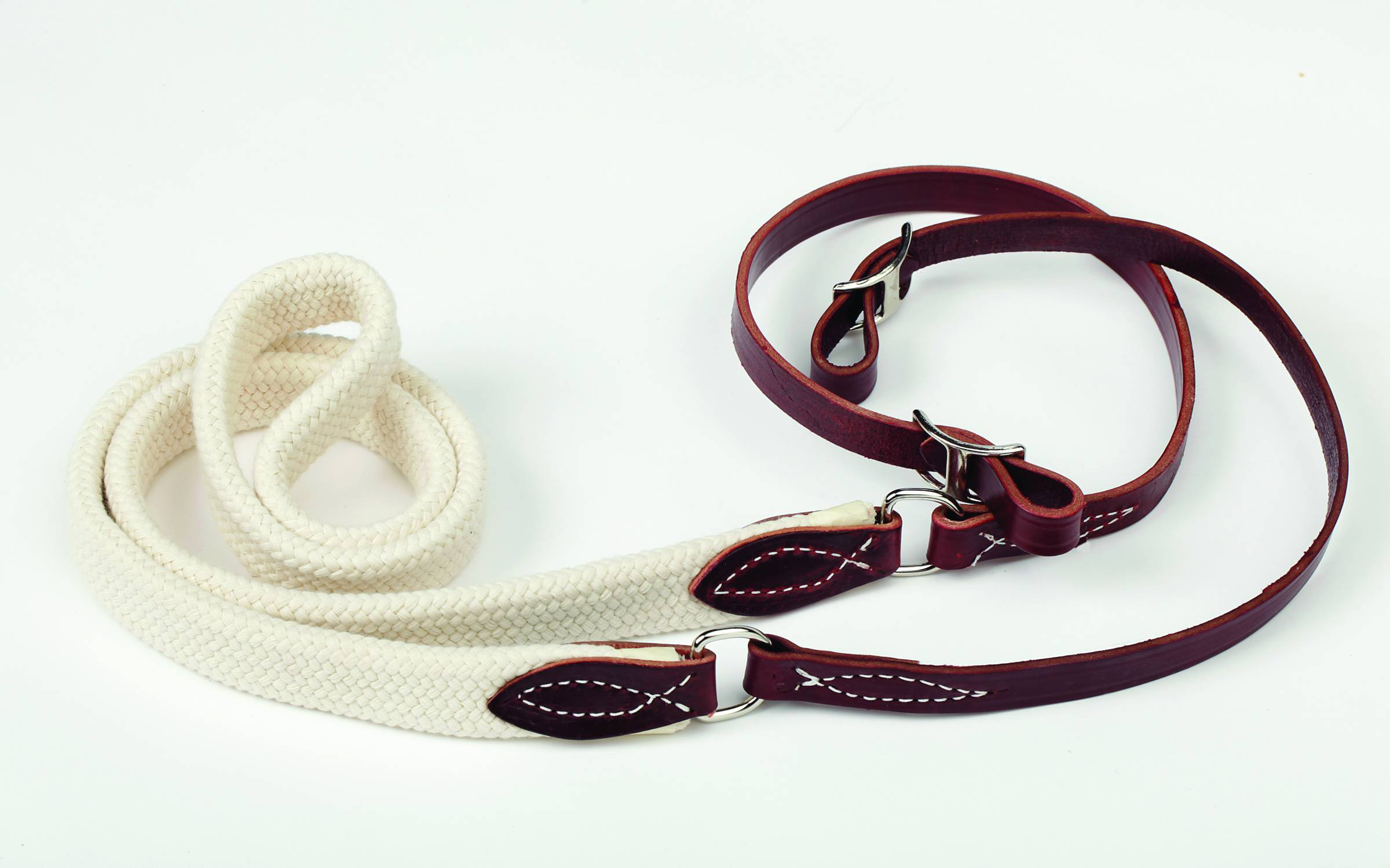 Colorado Saddlery Braided Cotton Center Latigo Roper And Contest Reins