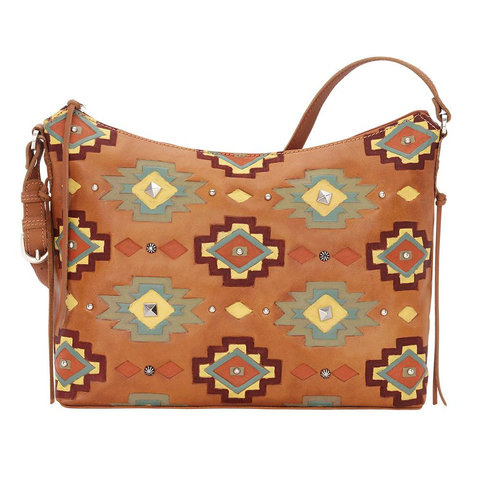 American West Adobe Allure Zip-Top Shoulder Bag