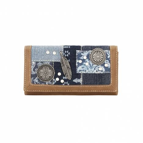 Bandana Ladies Indigo Flap Wallet