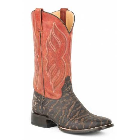 Roper Mens Rhino Stamped Square Toe Cowboy Boots