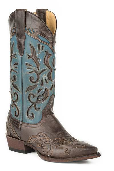 Stetson Ladies Poloma Fashion Snip Toe Cowgirl Boots