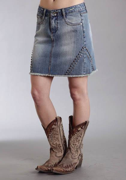 Stetson Ladies Fall II Jean Skirt With Studs On Sides