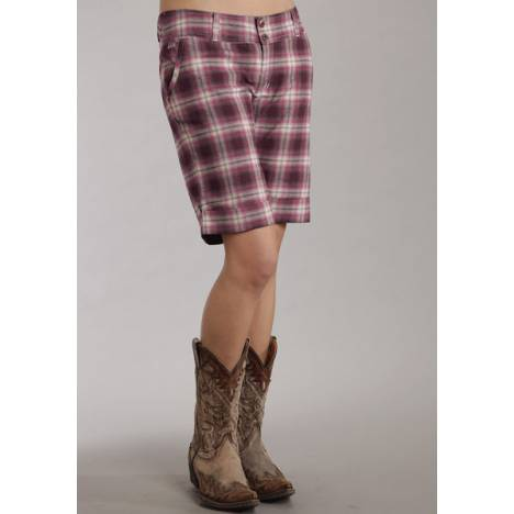 Stetson Ladies Fall III Sanguine Plaid Brushed Twill Shorts