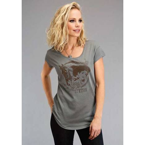 Stetson Ladies Lady And Horse Stetson Screen Print T-Shirt