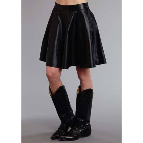 Stetson Ladies Smooth Lamb Leather Circle Skirt
