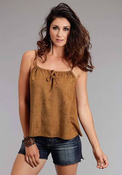 Stetson Ladies Spring I Faux Suede Adjustable String Tank