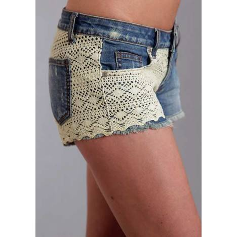 Stetson Ladies Spring II Lace Front And Back Denim Shorts