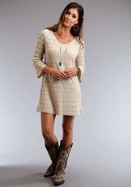 Stetson Ladies Summer II Double Knit Lace V-Neck Dress