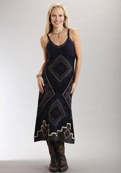 Stetson Ladies Summer III Long Crochet Dress With Spaghetti Straps
