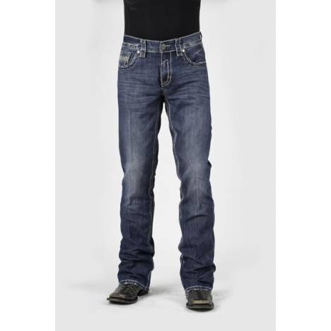 Stetson Mens 1014 Fit Flap Back Pocket Lower Rise Jeans