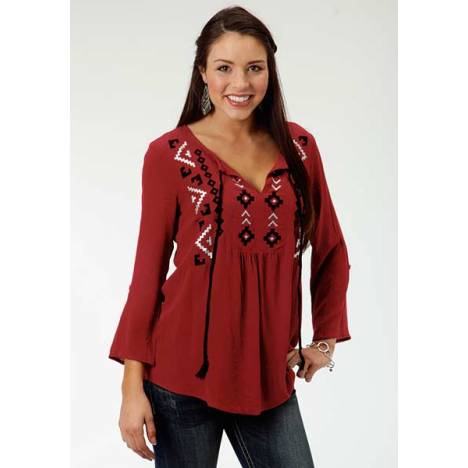 Roper Ladies Plus Size Gypsy Peasant Blouse