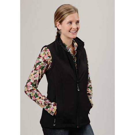 Roper Ladies Plus Size Technical Softshell Vest - Black