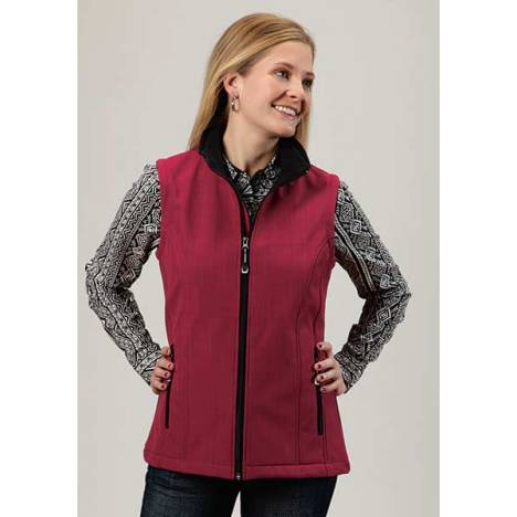 Roper Ladies Plus Size Technical Softshell Vest - Pink