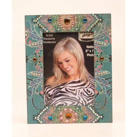Western Moments Paisley Blinged Frame
