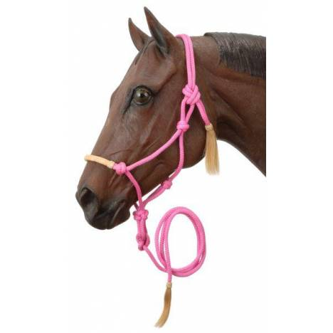 Tough-1 Rawhide Noseband Rope Halter with Lead