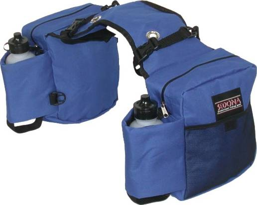 Sedona Dual Saddle Bags with Water Bottle Pockets