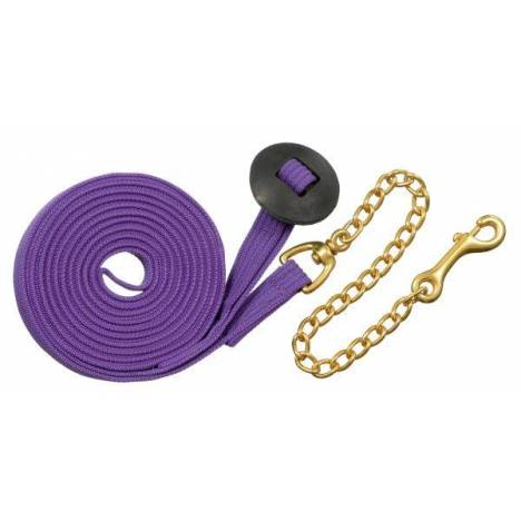 Tough-1 German Cord Cotton Lunge Line with Heavy Chain
