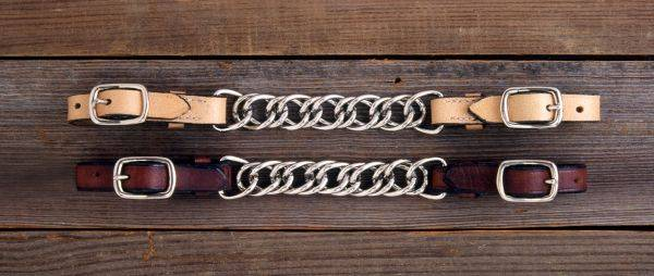 Royal King Flat Leather Curb Chain