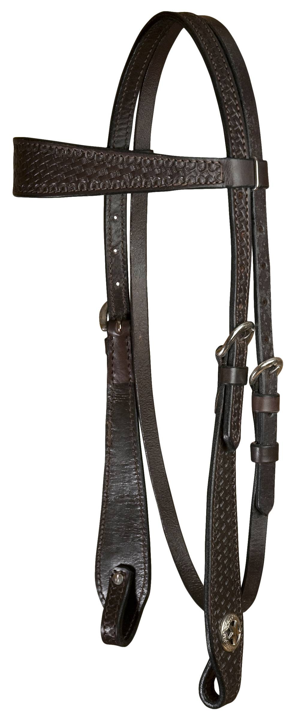 SEDONA Headstall Wide Brow - Light Oil