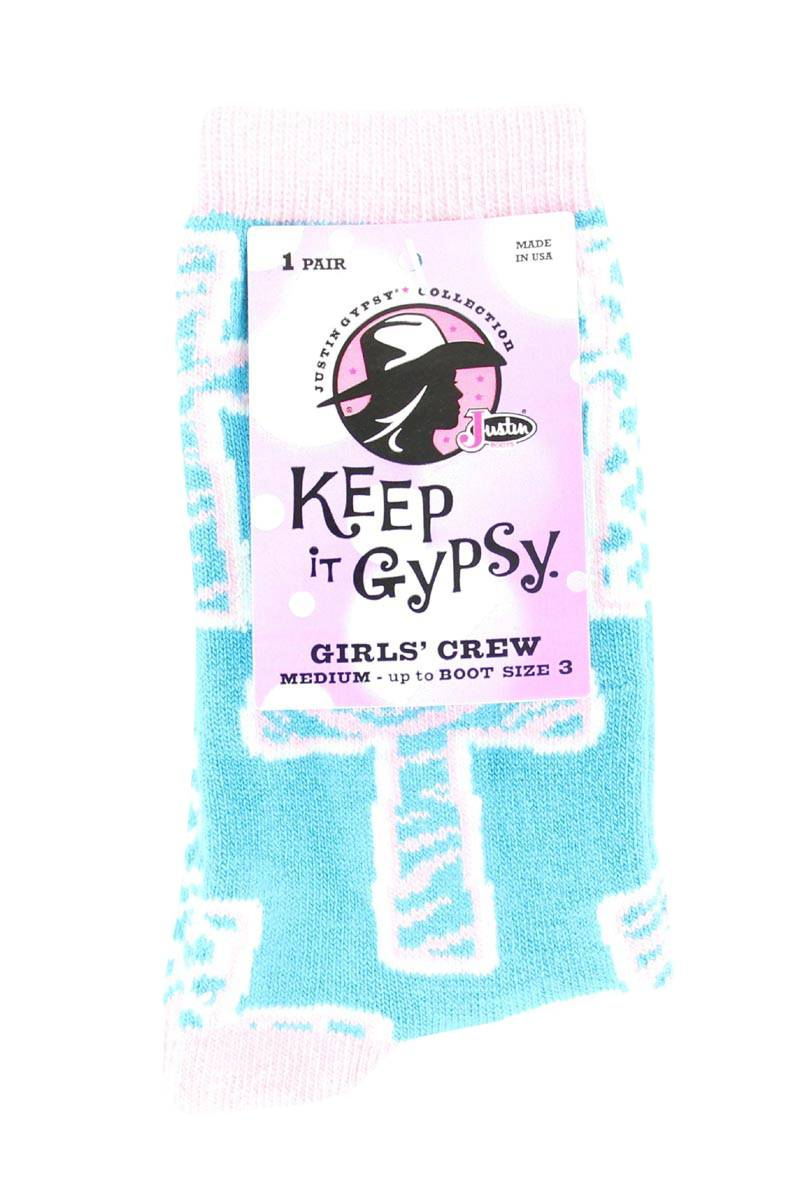 JUSTIN Gypsy Youth Crew Socks
