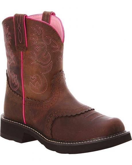 OPEN BOX ITEM: Ariat Women's Fatbaby Saddle Boots
