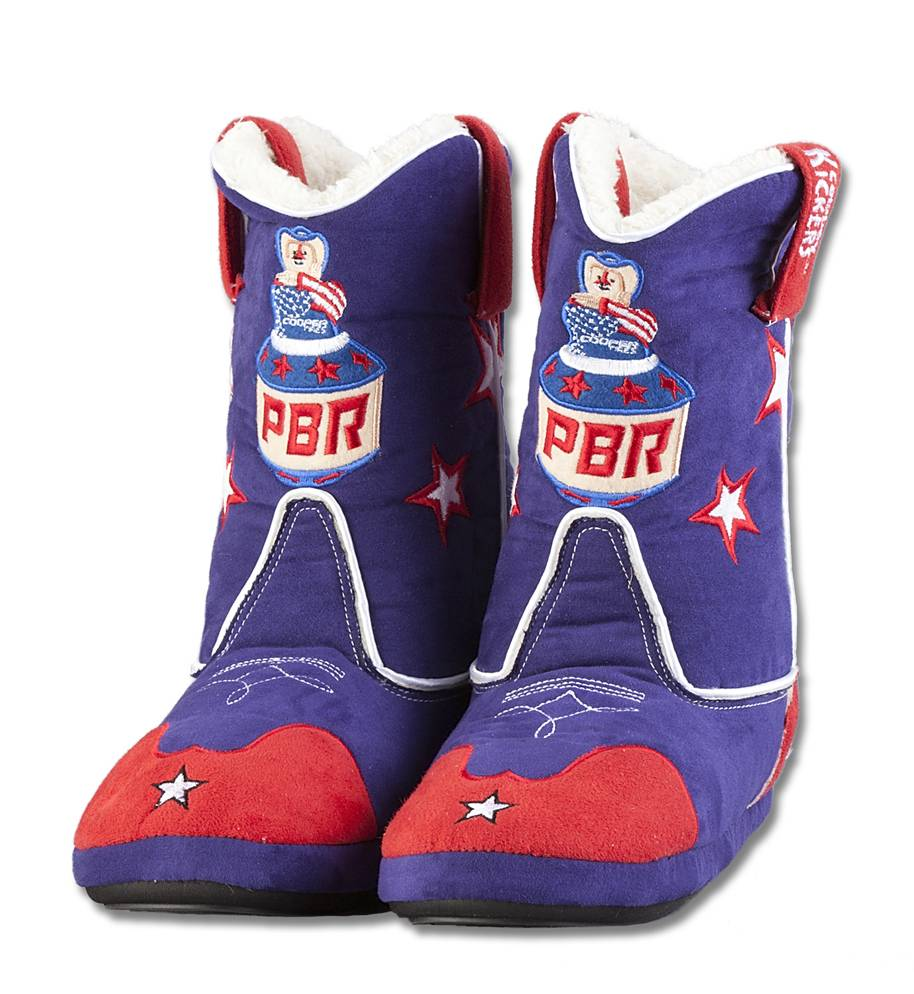 Cowboy Kickers PBR Youth Slippers