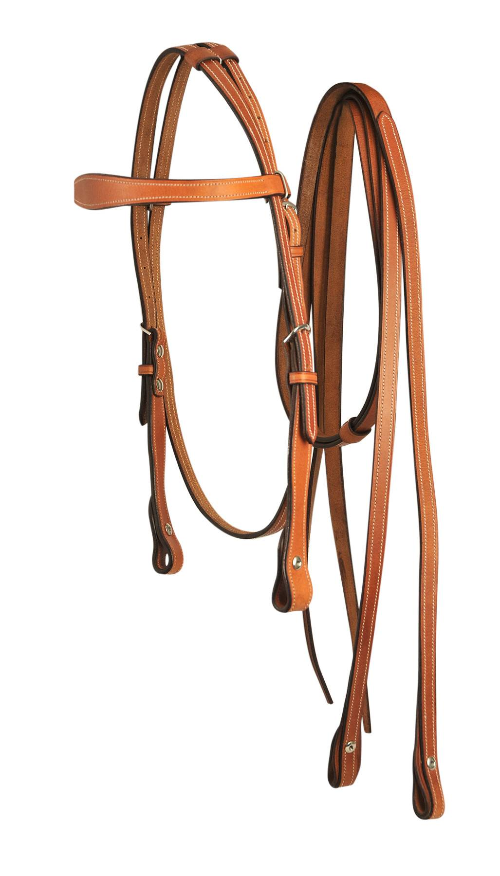 Bobby's Complete Plain Western Bridle With Split Reins