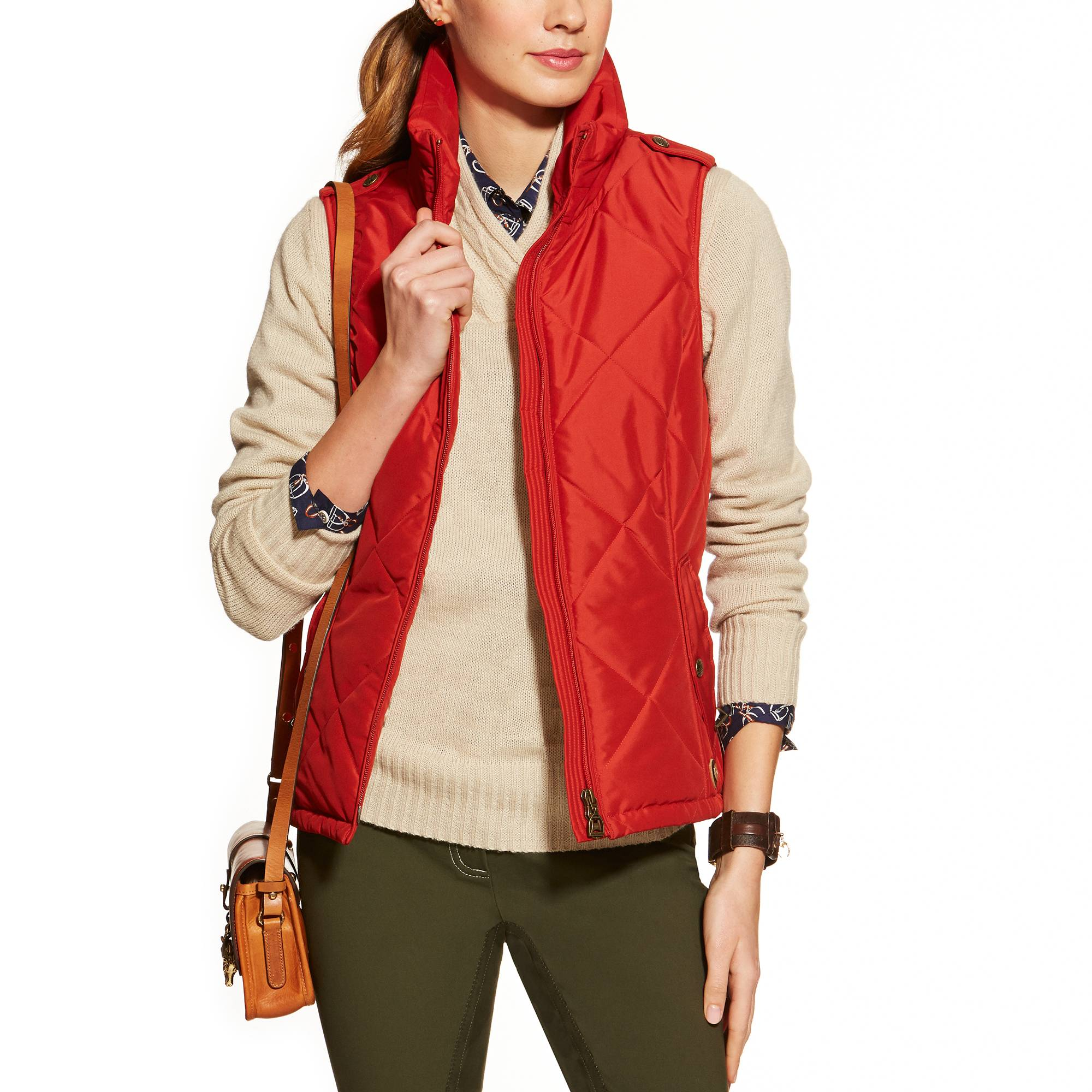 Ariat Ladies Terrace Vest - Brick
