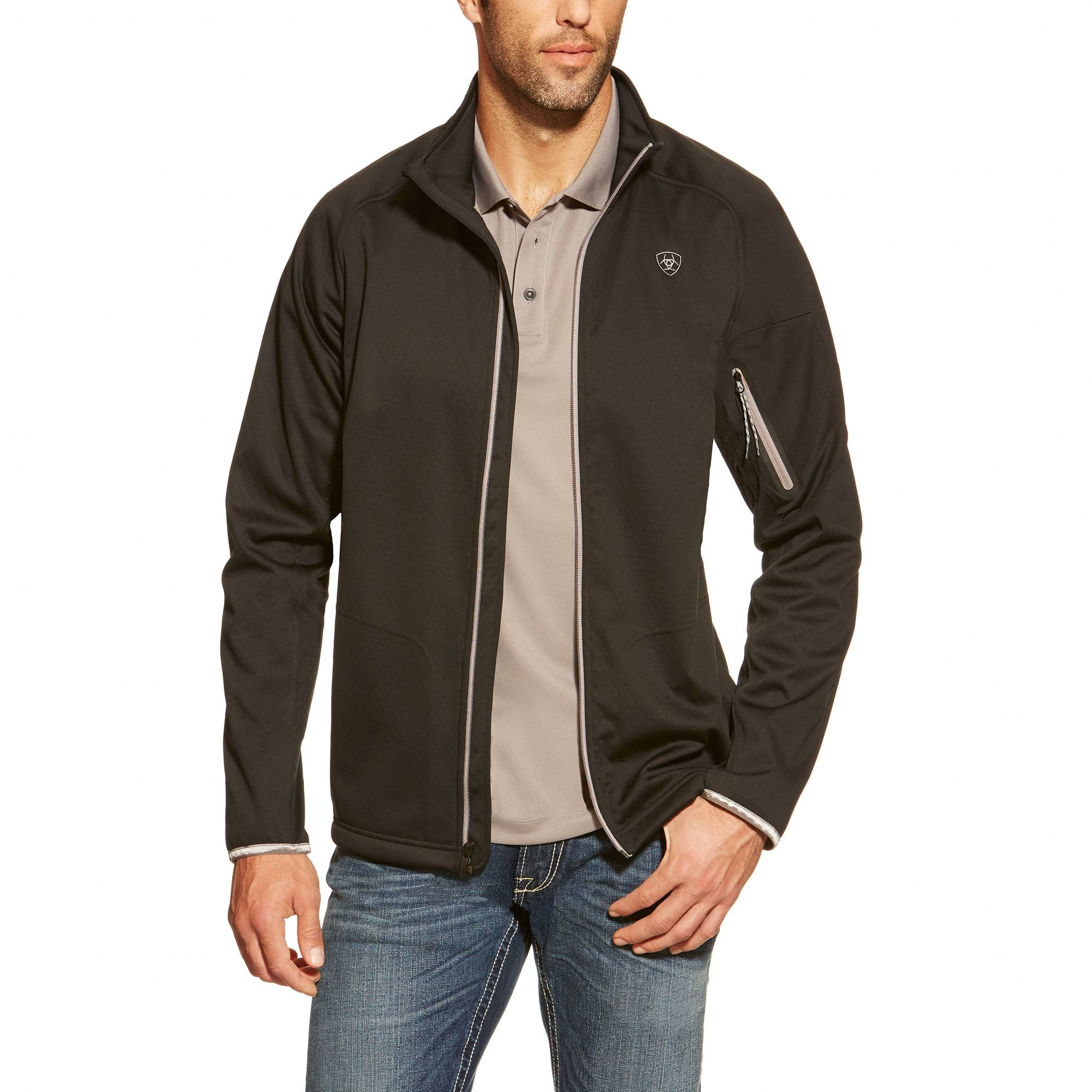 Ariat Men's Saga Full Zip - Black