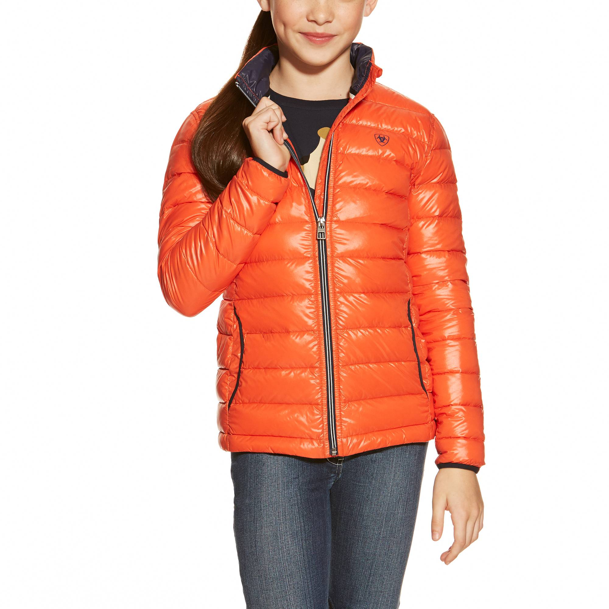 Ariat Girl's Ideal Jacket - Red Coral
