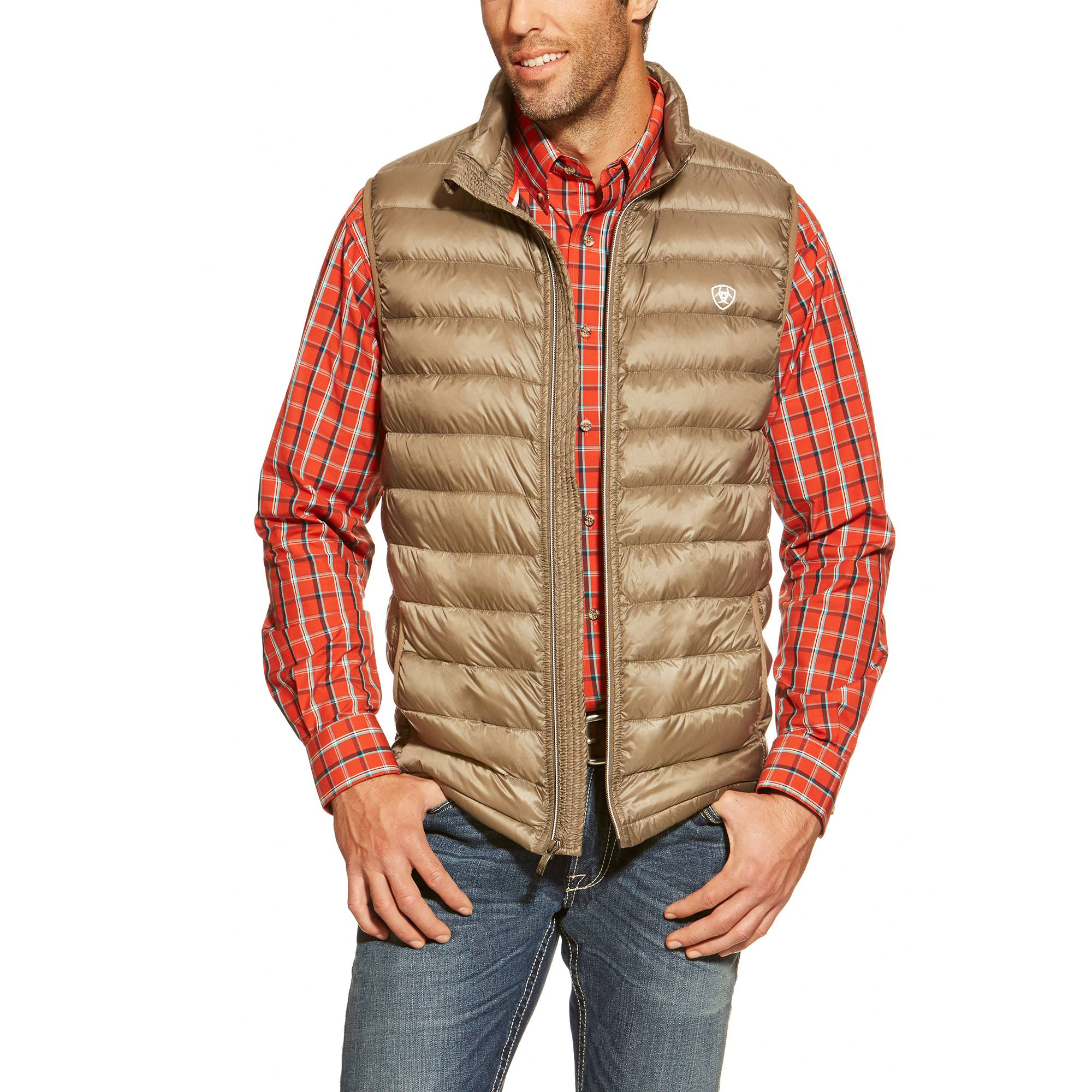 Ariat Men's Ideal Down Vest - Morel