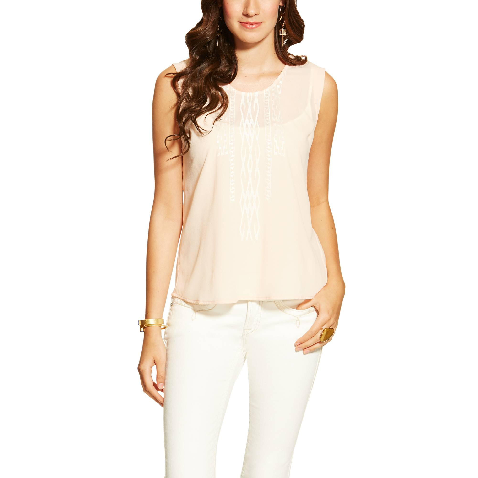 Ariat Ladies Abbott Top - Candid Peach