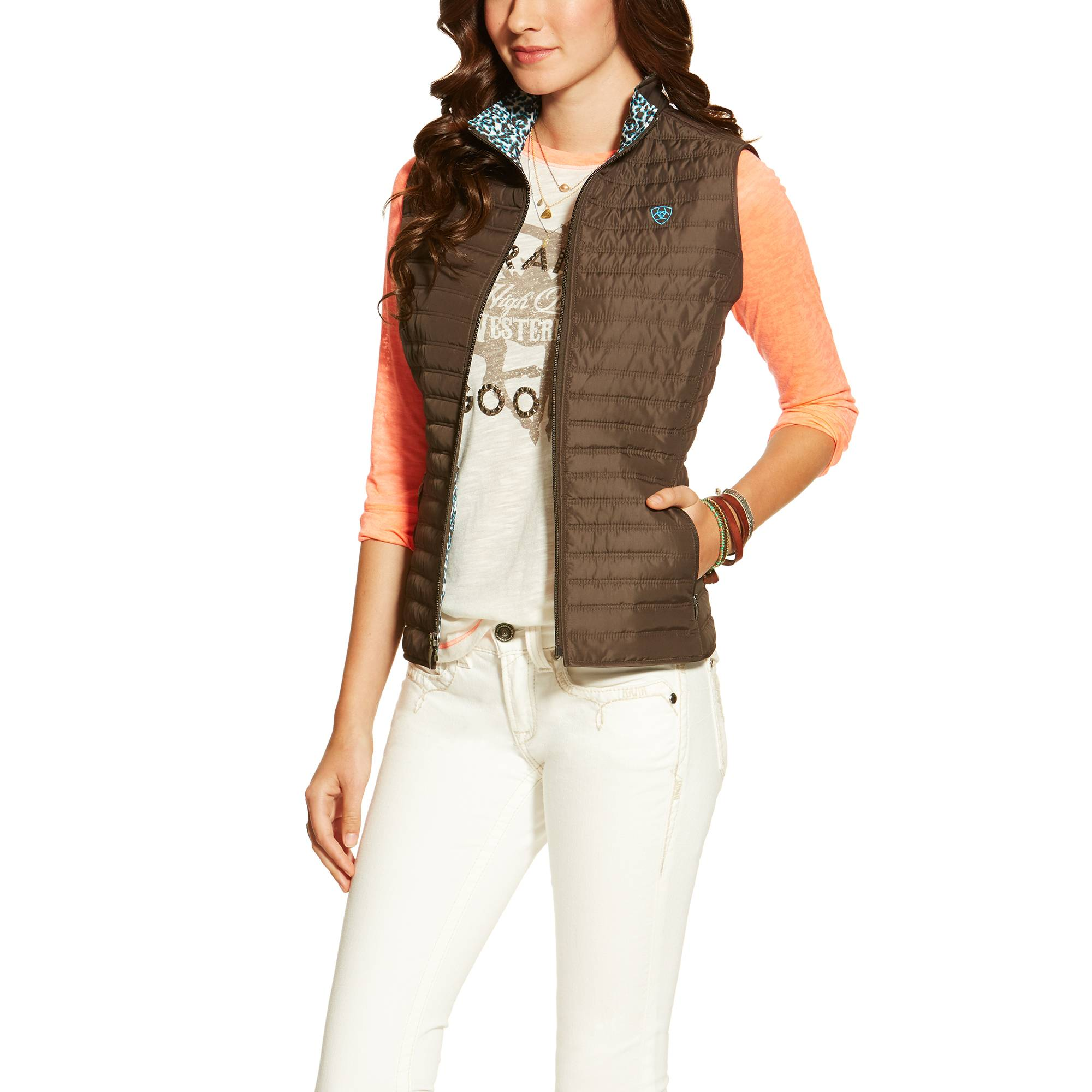 Ariat Ladies Lago Vest - Dark Bark
