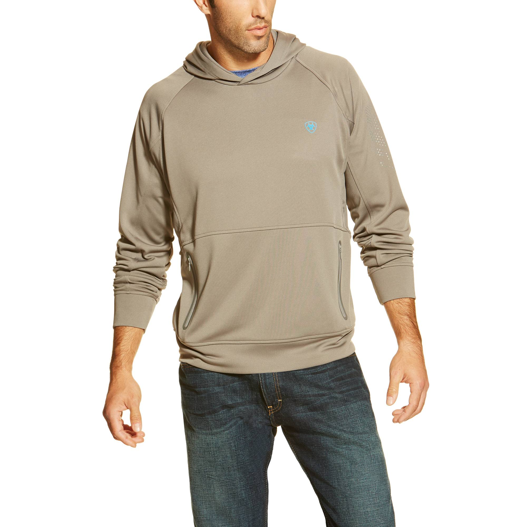 Ariat Men's Flux Hoodie - Jetty Grey