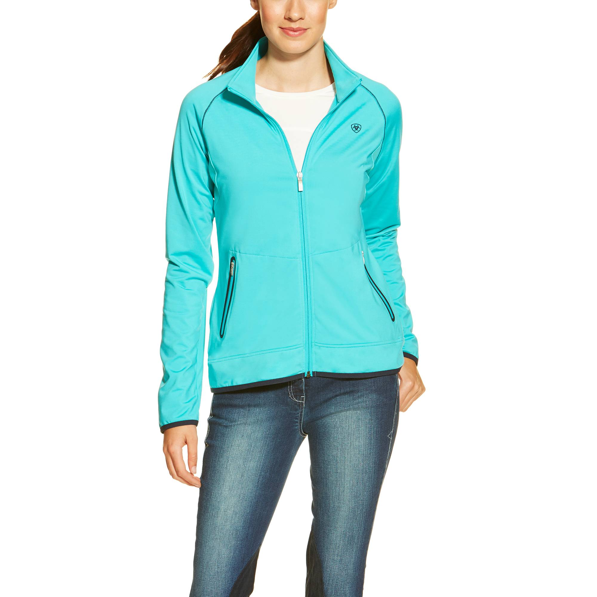 Ariat Ladies Ballad Full Zip - Bluebird