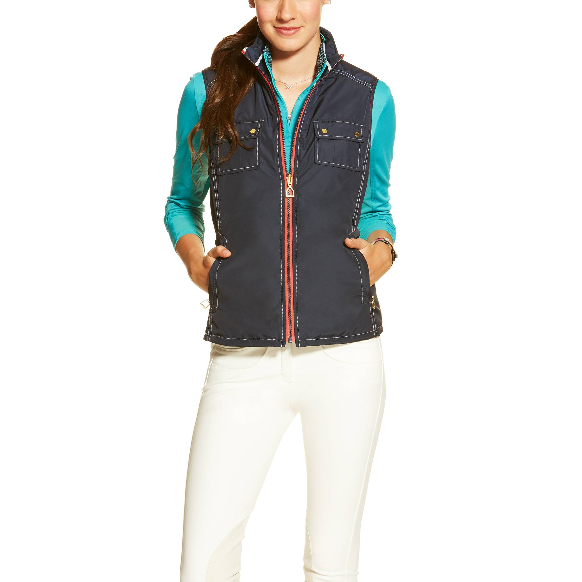 Ariat Ladies Derby Vest - Navy