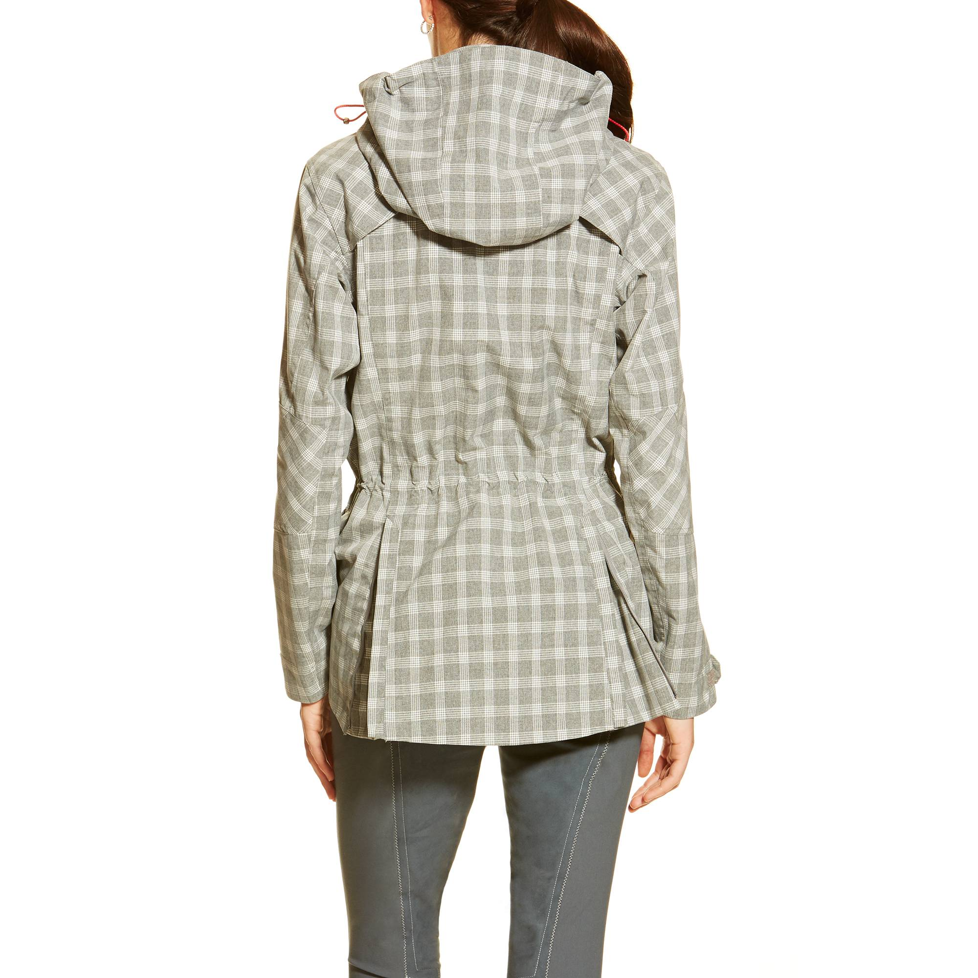 Ariat Ladies Gladstone Waterproof Parka - Gray Check