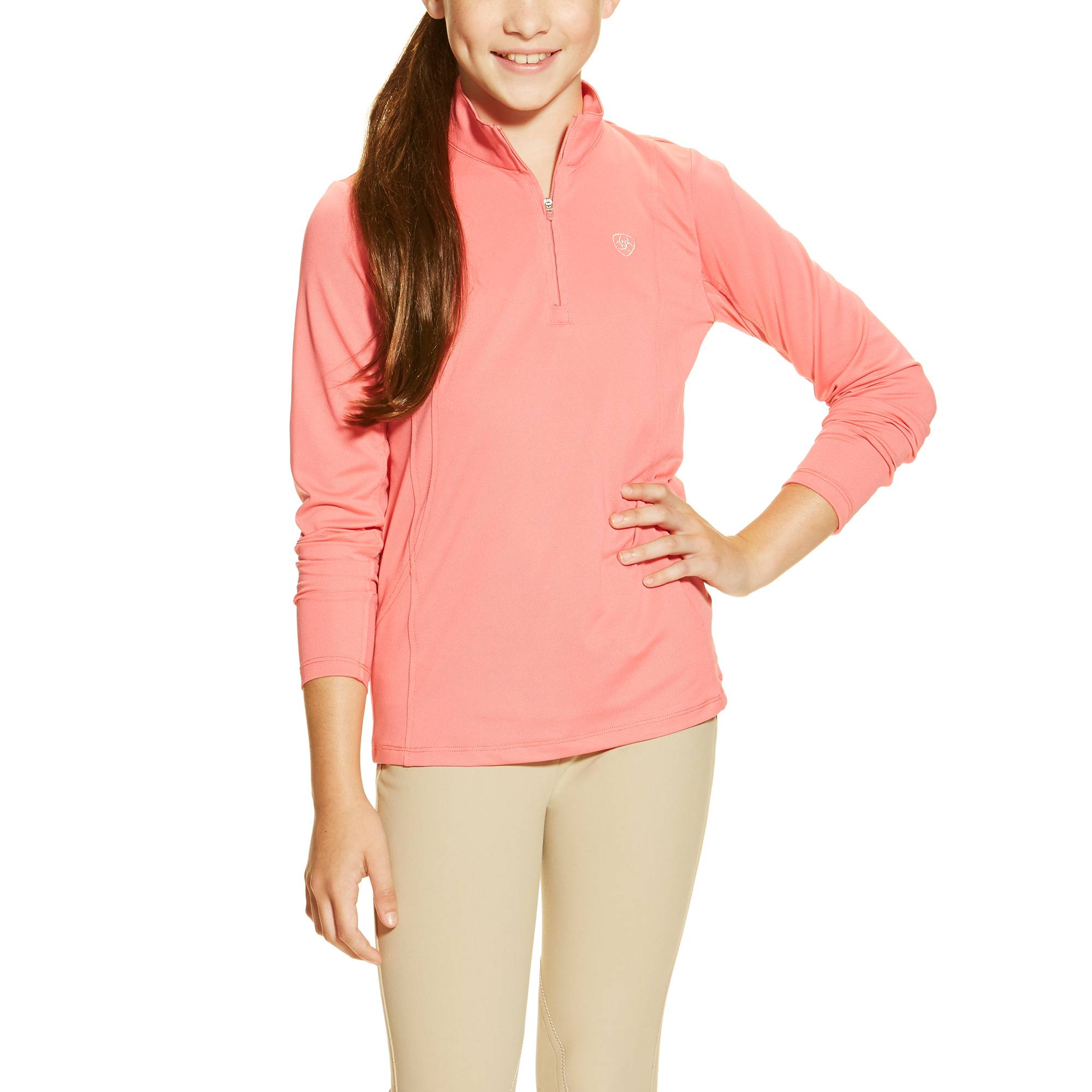Ariat Girl's Sunstopper Top - Strawberry Pink