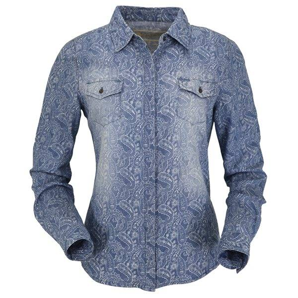 Outback Trading Ladies Pearl Paisley Shirt