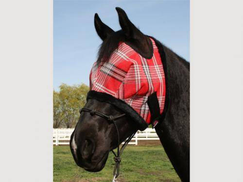 Kensington Signature Fly Mask with Fleece Trim - Draft