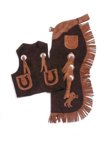 Tough-1 Youth Vest & Chap Set with Horses