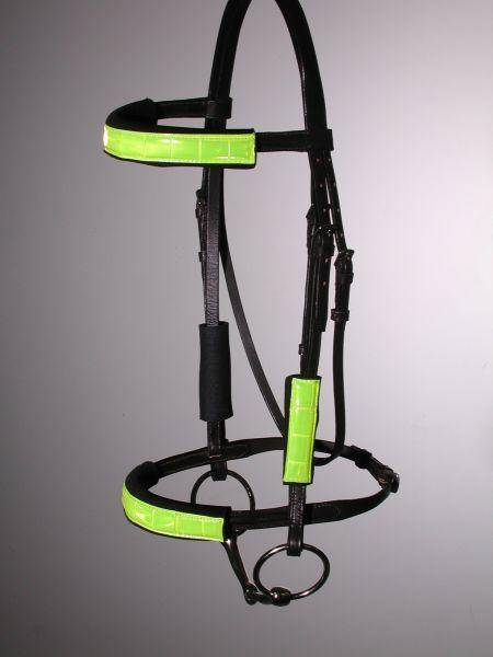 Tough-1 Reflective 4-piece Halter/Bridle Tubing Kit