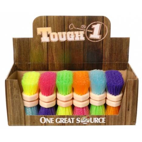 12 Pack Jr Size Medium Poly Bristle Brush Display Bright Colors