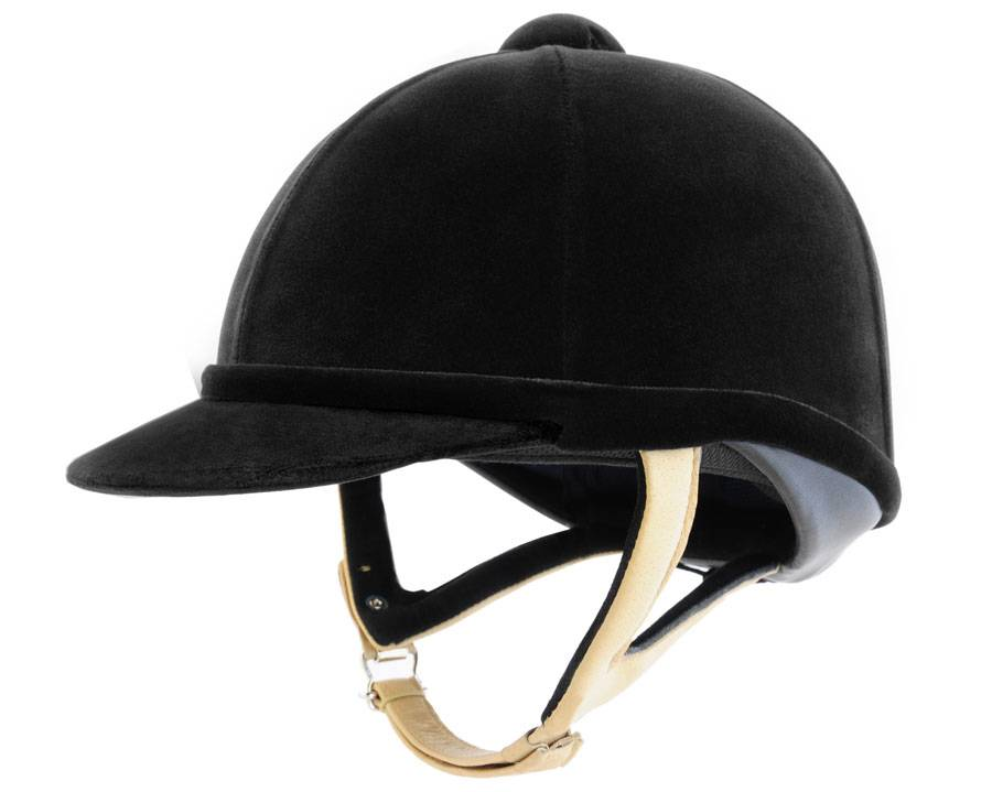 Charles Owen Wellington Classic Helmet - Flesh Harness